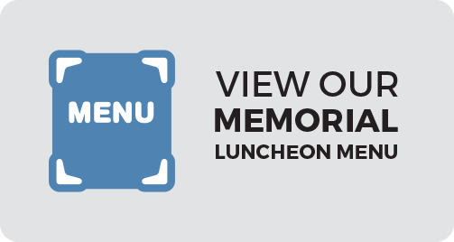 View out Memorial Luncheon Menu