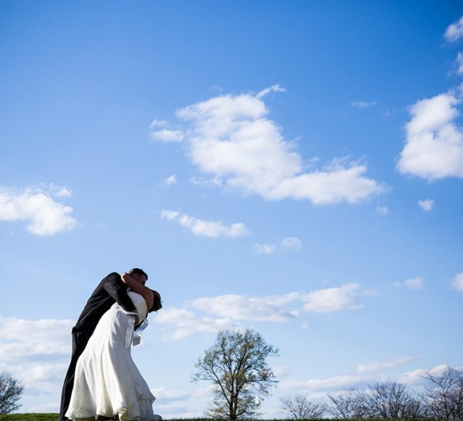 Bride and groom photo at PineCrest Country Club in Lansdale, PA