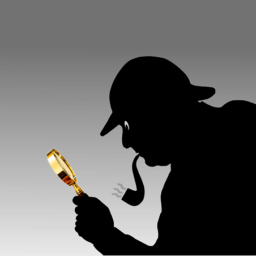 Detective Image with Magnifying Glass