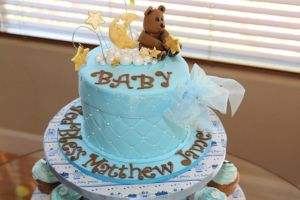 baby shower cake for baby boy Matthew James