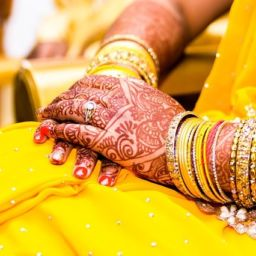 Yellow Mehendi Wedding Bangles