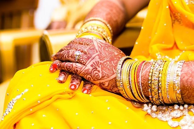 Yellow Mehendi Wedding Bangles