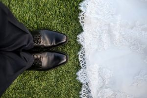 wedding couple's shoes