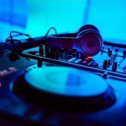DJ Equipment with headphones